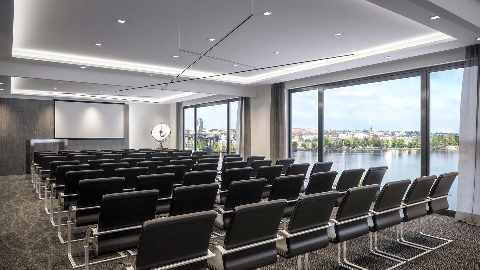 Meeting room in Hamburg: conference with Alster view